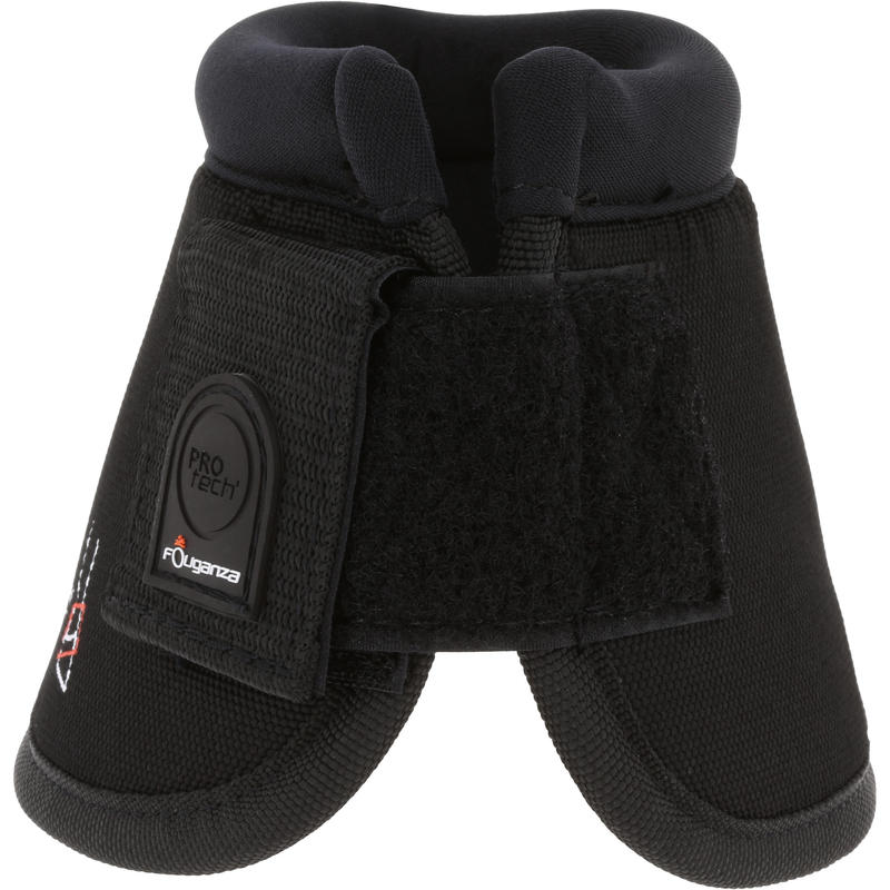 Optimum Protect Horse Riding Pair of Overreach Boots for Pony and Horse - Black