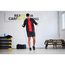 Trainingsjacke Fitness Cardio FVE 100 Herren schwarz