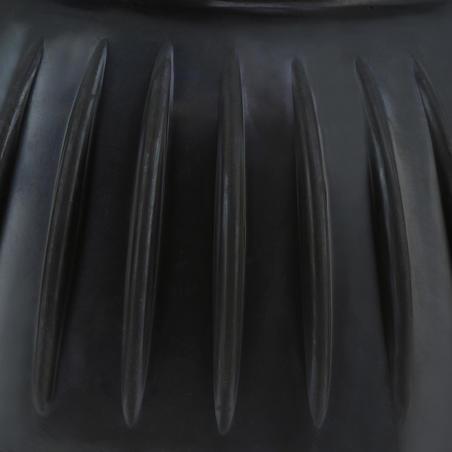 Atverami gumijas zvanu tipa kājsargi zirgiem un ponijiem, dubultpaka, melni