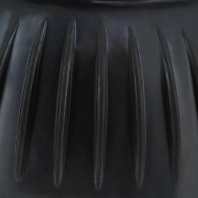 מגפי גומי פתוחים למניעת פציעות בעקב עבור סוס או פוני במארז שניים - שחור