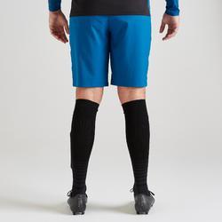 Pantalón corto de portero de fútbol adulto F500 azul
