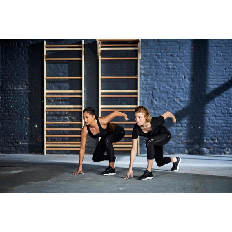 Fitnessschuhe Sportschuhe Cardio 900 Damen schwarz DOMYOS