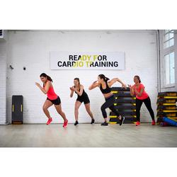 100 Women's Fitness Cardio Training 7/8 Leggings - Black