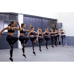 Brassière Zip fitness cardio training femme noire 900
