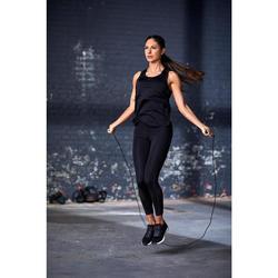 Débardeur fitness cardio training femme noir 900