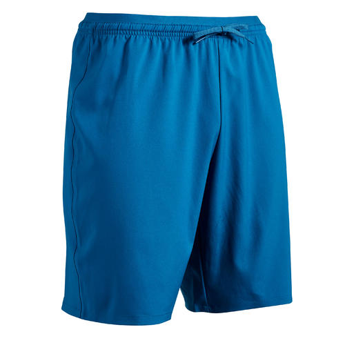 SHORT GARDIEN DE BUT DE FOOT ADULTE F500 BLEU