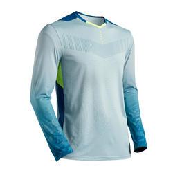 Camisola de Guarda-redes Futebol F500 Adulto Cinzento