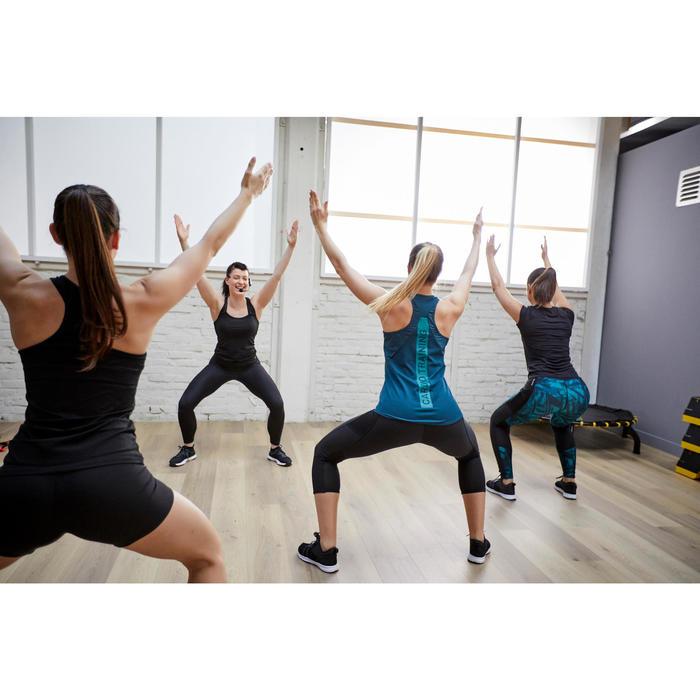 Fitness legging 120 voor dames, grafische print