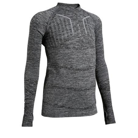 Kids' Long-Sleeved Base Layer Football Top - Mottled Grey