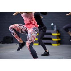 Fitness legging 500 voor dames, bloemenprint