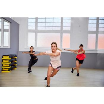 Sporthose kurz FST 500 Fitness Cardio Damen Print geblümt