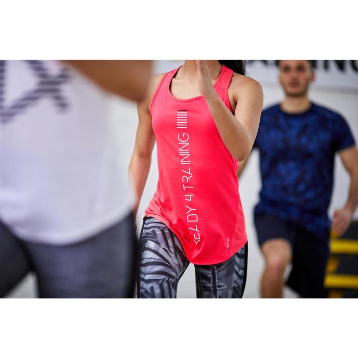 Débardeur fitness cardio training femme rose 120