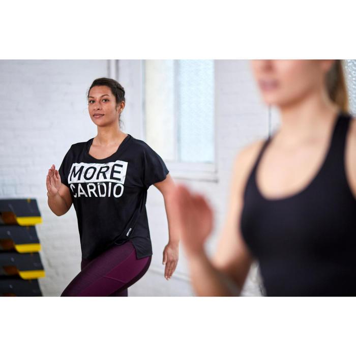 T-shirt voor cardiofitness dames zwart 120