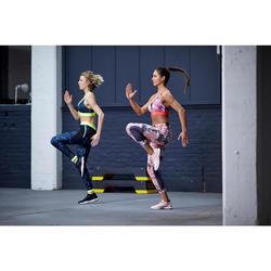 Legging fitness cardio training femme imprimé floral 500