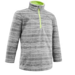 Fleece voor hiking MH 100 grijs 2-6 jaar