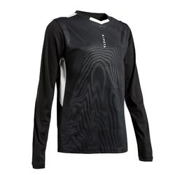 Camiseta de Fútbol manga larga Kipsta F500 niños negro