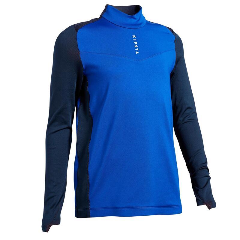 Kids' 1/2 Zip Football Sweatshirt T900 - Blue/Navy