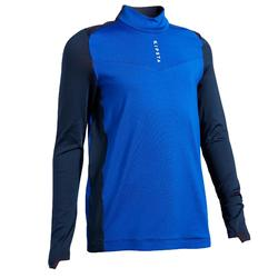 Trainingsjack kind T900 blauw/marineblauw