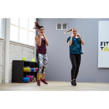 Débardeur fitness cardio training femme chiné bordeaux 120