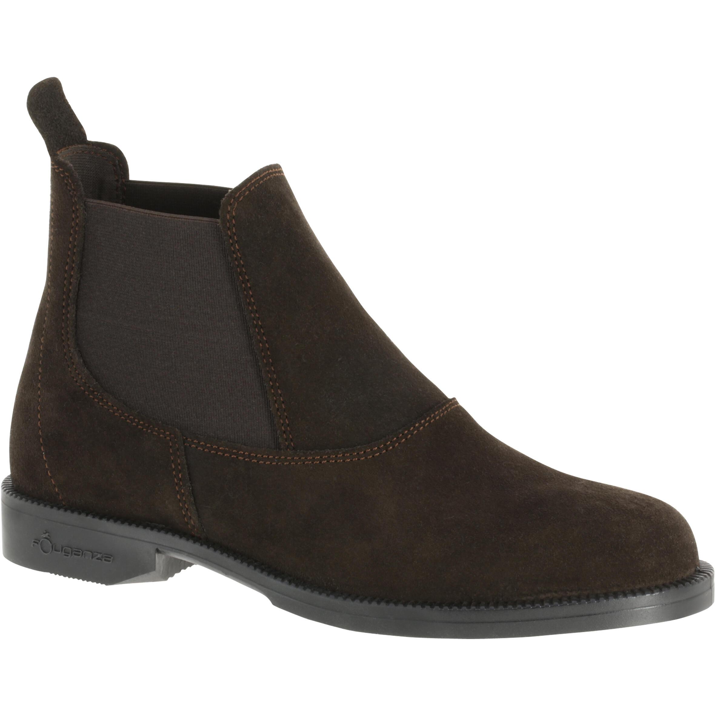Reitstiefeletten Classic Leder Erwachsene braun | Schuhe > Sportschuhe > Reitstiefel | Braun | Leder | Fouganza