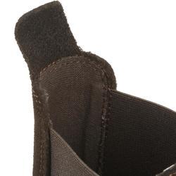 成人款經典馬術皮製短馬靴-棕色