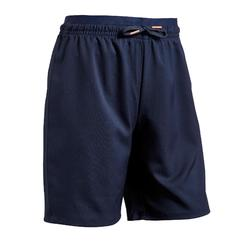Pantalón corto de fútbol niña F500 azul
