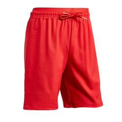 Pantalón corto de fútbol niña F500 rojo