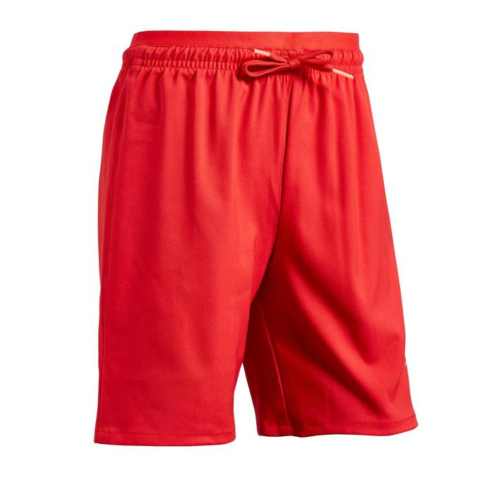 Short de football fille F500 rouge