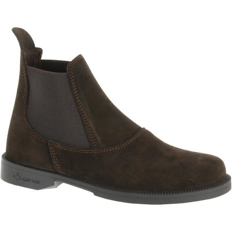 Classic Kids' Leather Horseback Riding Jodhpur Boots - Brown