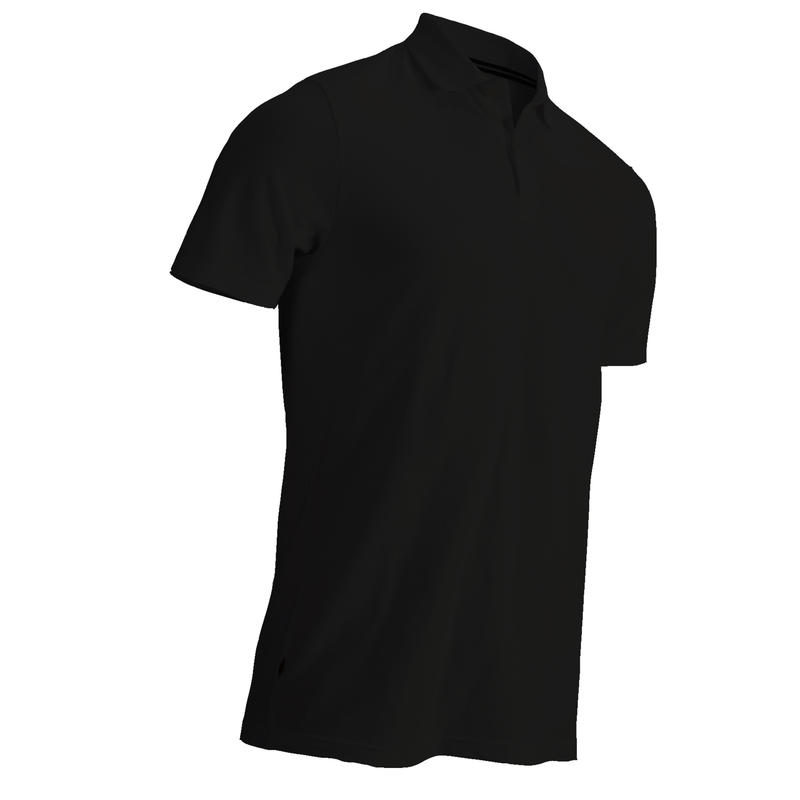 BLACK MEN'S SHORT-SLEEVED MILD WEATHER GOLFING POLO