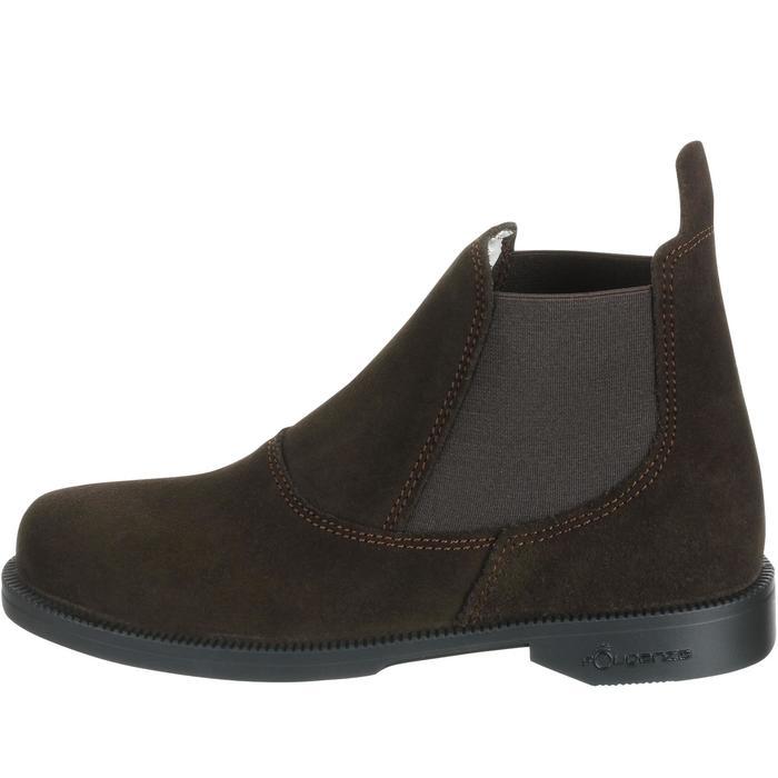 Boots équitation enfant CLASSIC cuir marron