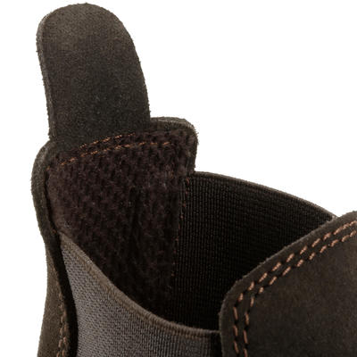 Classic Kids' Horse Riding Leather Jodhpur Boots - Brown