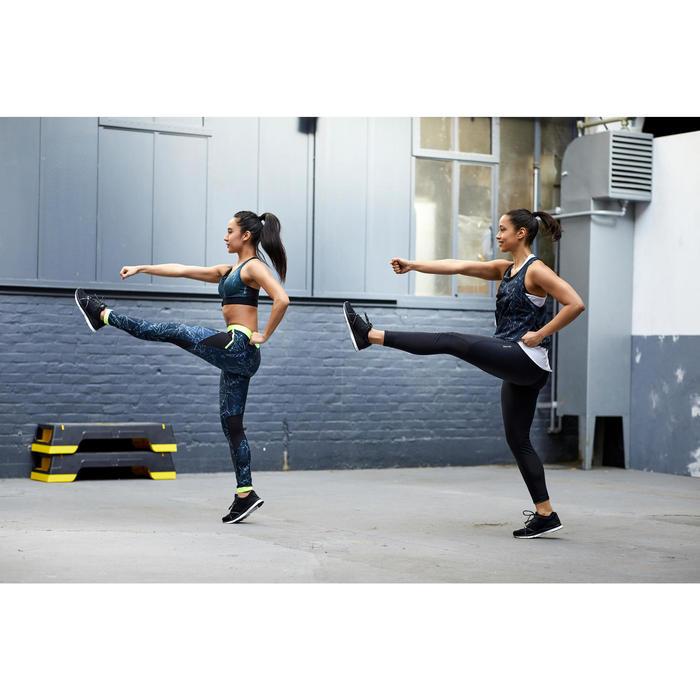 Legging fitness cardio training femme noir 500
