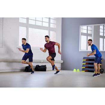 Fitnessschuhe Fitness Cardio 100 Herren schwarz/blau