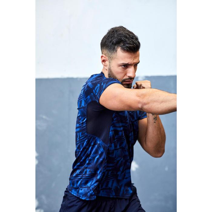 Fitness shirt FTS 120 voor heren, blauw/zwart