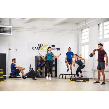 Tee shirt cardio fitness training homme FTS 120 bordeaux chiné