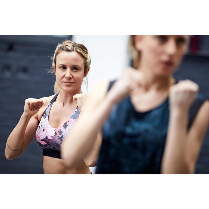 Brassière cardio fitness cardio training femme imprimée floral 500