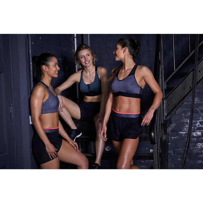 Sport-Bustier FBRA 100 Fitness Cardio Damen graumeliert