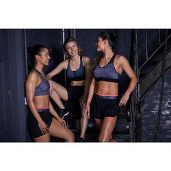 Sportbeha voor cardiofitness 100 gemêleerd grijs