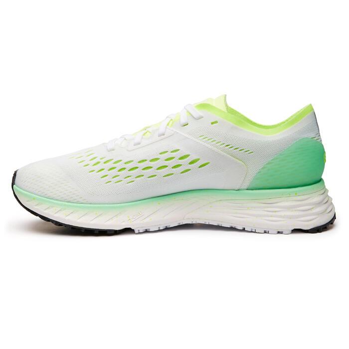 Hardloopschoenen voor dames Kiprun KS Light wit/groen
