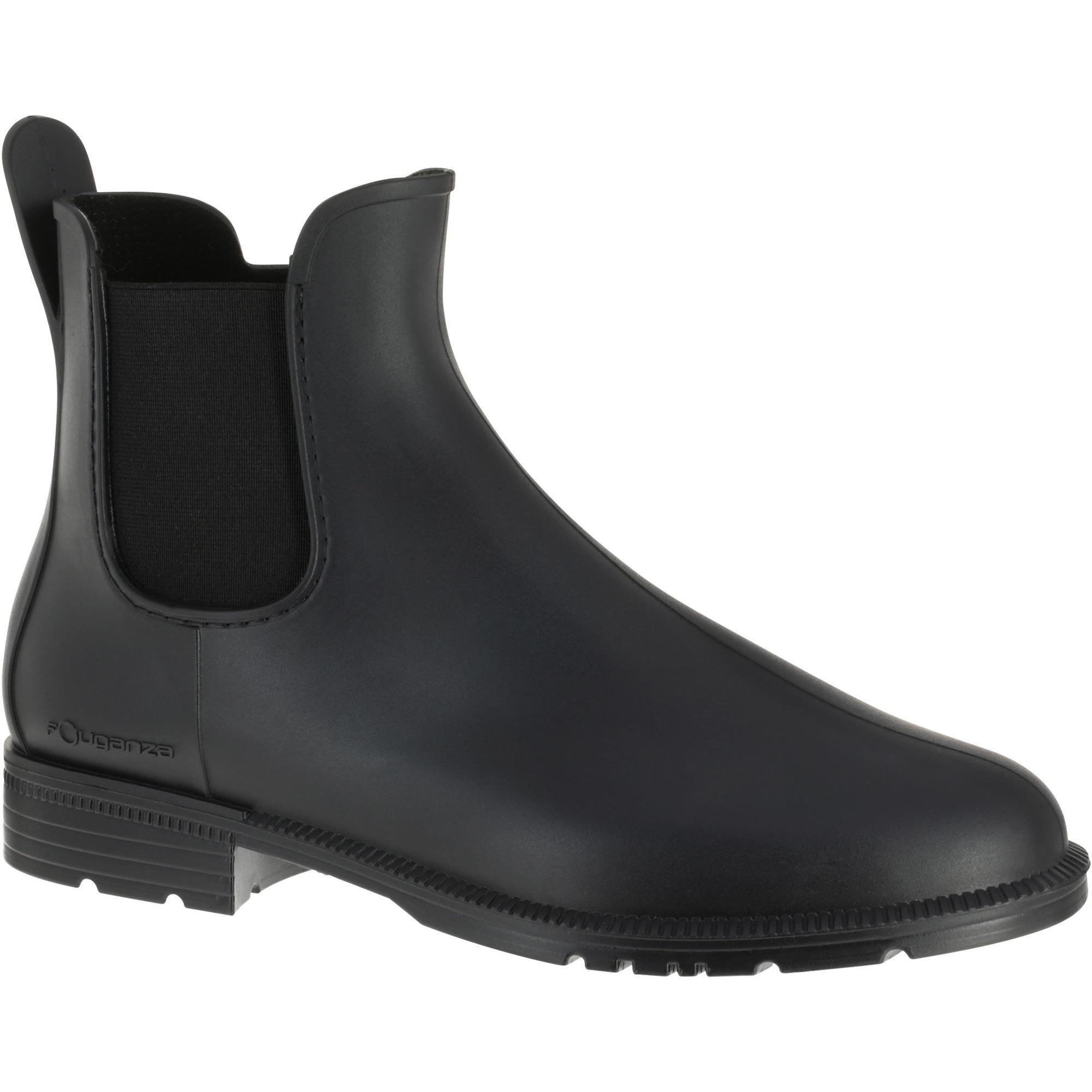 Reitstiefeletten Schooling gummi Erwachsene schwarz   Schuhe > Sportschuhe > Reitstiefel   Fouganza
