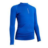 חולצת בסיס ארוכה נושמת לילדים Keepdry 100 - כחול