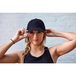 Casquette fitness cardio training noire