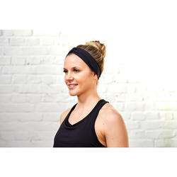 女性有氧運動彈力髮圈-黑色.