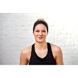 Bandeau fitness cardio training femme noir avec élastique