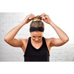Stirnband Fitness-/Cardiotraining Damen schwarz mit Gummi