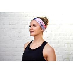 Fitnesshoofdband cardiotraining voor dames met bloemenprint