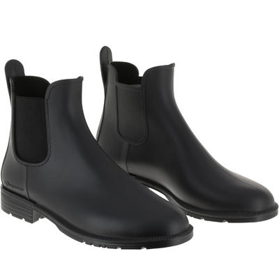 Schooling Adult/Kids' Horse Riding Jodhpur Boots - Black
