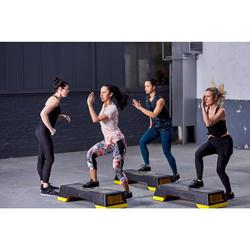 Fitness legging 7/8 500 voor dames, bloemenprint