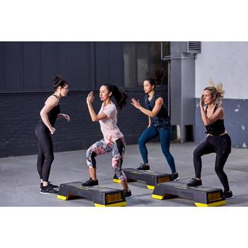 Legging 7/8 fitness cardio training femme imprimé floral 500